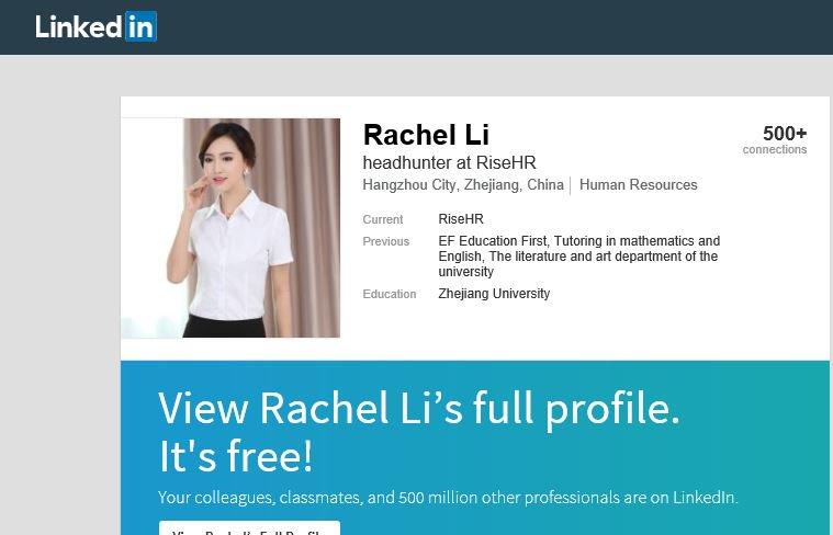 "Image result for Rachel Li""RiseHR"""