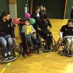 Nos Dijonnais à Boivin pour soutenir le #Telethon ! Dédicaces et initiation handi-basket notamment au programme. #Dijon