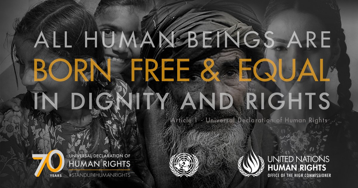 It's #HumanRightsDay! Whenever humanity's values are abandoned, we're all at greater risk. Attacks on #humanrights by people who want to profit from hatred & exploitation erode freedom & equality.   https://t.co/Z1UQsh0HD8#StandUp4HumanRights@UNHumanRights