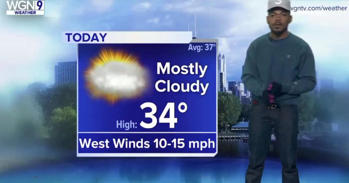 Chance the Rapper is now Chance the Weatherman https://t.co/X0YOzecuxh