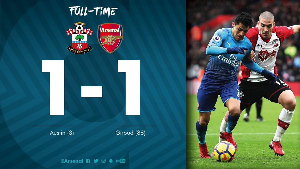 It ends level after @_OlivierGiroud_'s late equaliser    #SFCvAFC