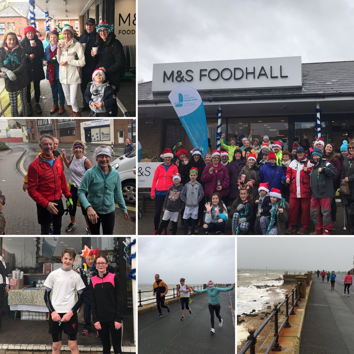 A big shout out to everyone that braved the weather and joined our Jingle Bell walk today! The mulled wine and mince pies went down a treat thanks to our lovely friends at M&S, Cowes! #FestiveFundraising #confidenceaftercancer #Jinglealltheway