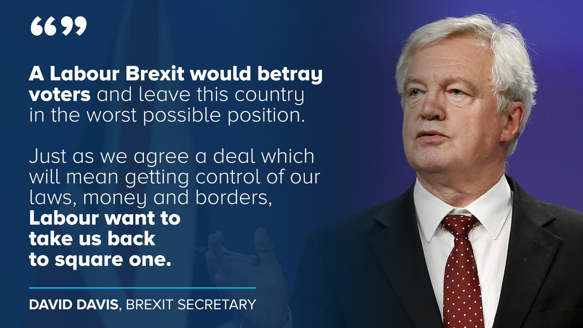 .@DavidDavisMP : Keir Starmer could not have been clearer about what the consequences of Labour's chaotic approach to Brexit would be.