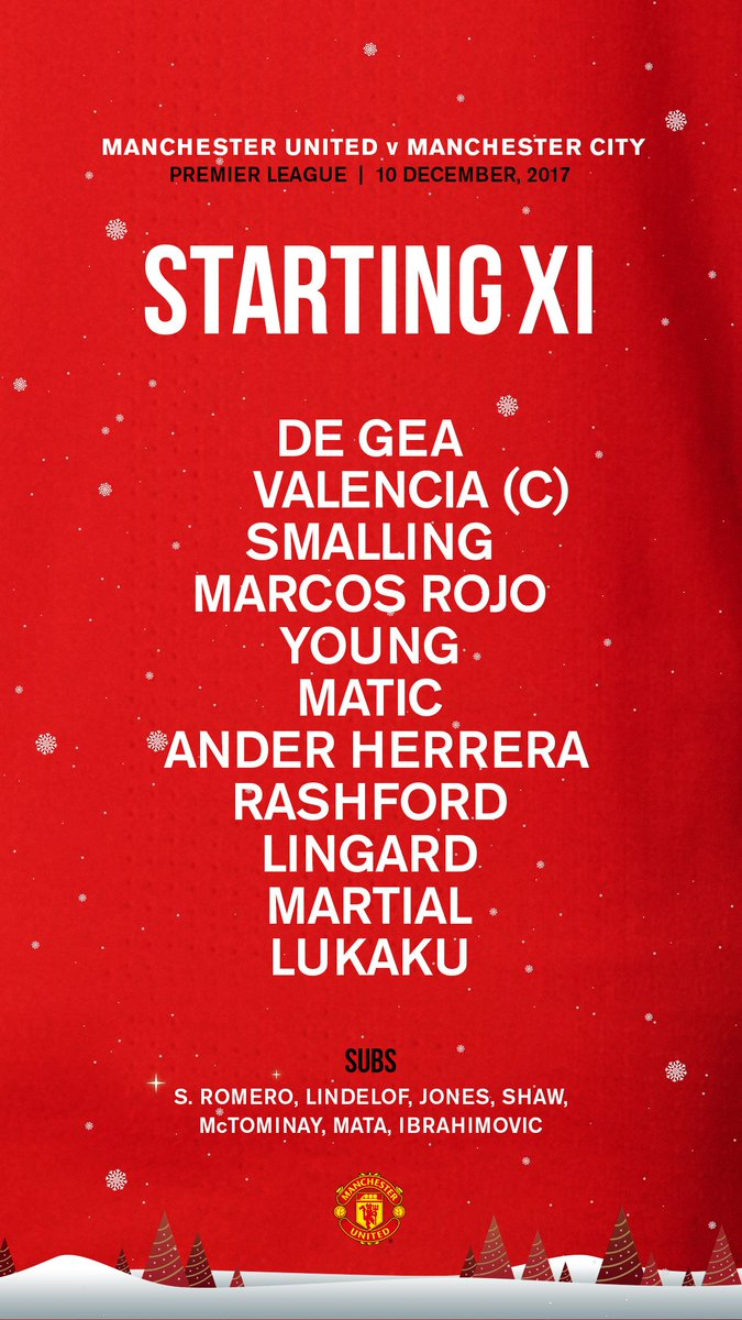 Here's how #MUFC line up for this aftern...