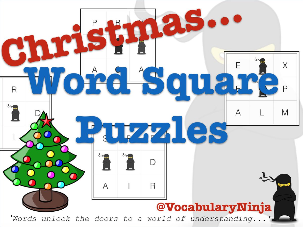great for busy christmas classrooms or fun at home unjumble the christmas words httpswwwvocabularyninjacoukword square puzzleshtml