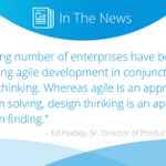Both #designthinking and #agile development require frequent input from end-users. Read this article via @InformationWeek to learn how to incorporate aspects from both approaches as your team develops applications https://t.co/3n5uyhsjeq