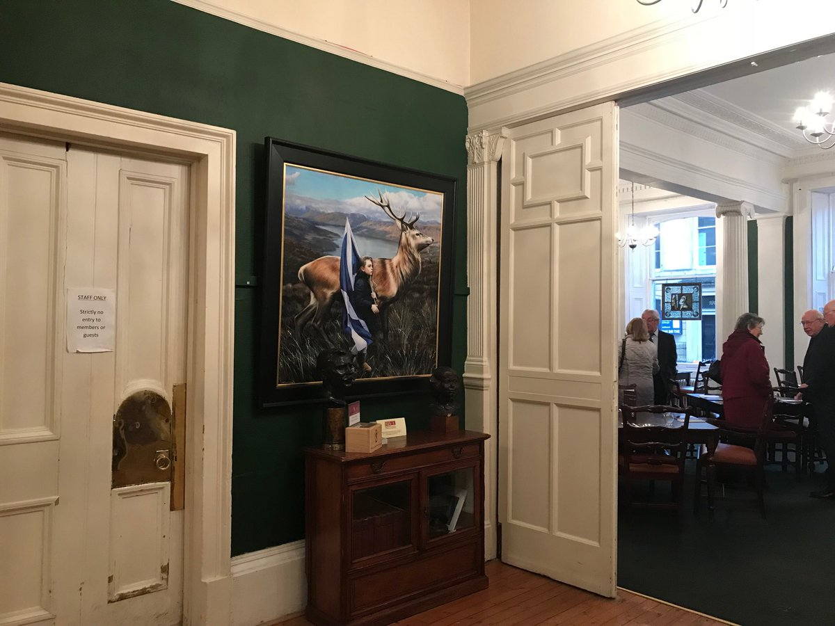 ....meant to post this up earlier in the week....lovely wee surprise when I dropped in to @GlasgowArtClub to see my Saltire painting occupying pride of place in the winter show....possibly a wee solo show later this year??