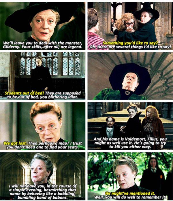 Harry Potter World On Twitter Minerva Mcgonagall Quotes