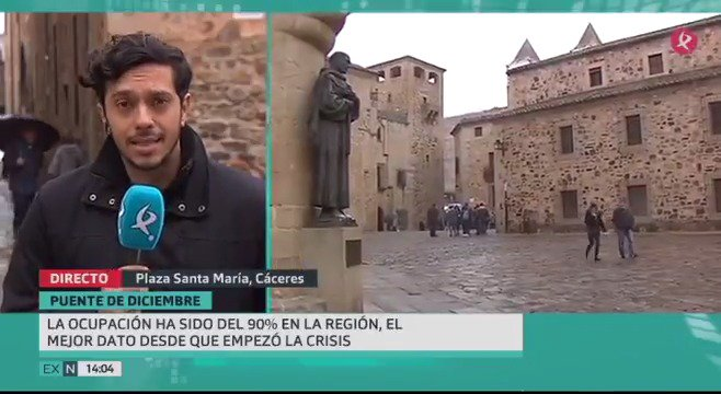 Está siendo el mejor puente turístico en los últimos años. Lo dicen @Fextur y @CETEXsocial. Lo hemos comprobado en #Cáceres. #EXN https://t.co/CqOYJKXzSL