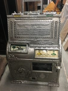 Cast Iron Gambling Token Payout Machine, The Littl