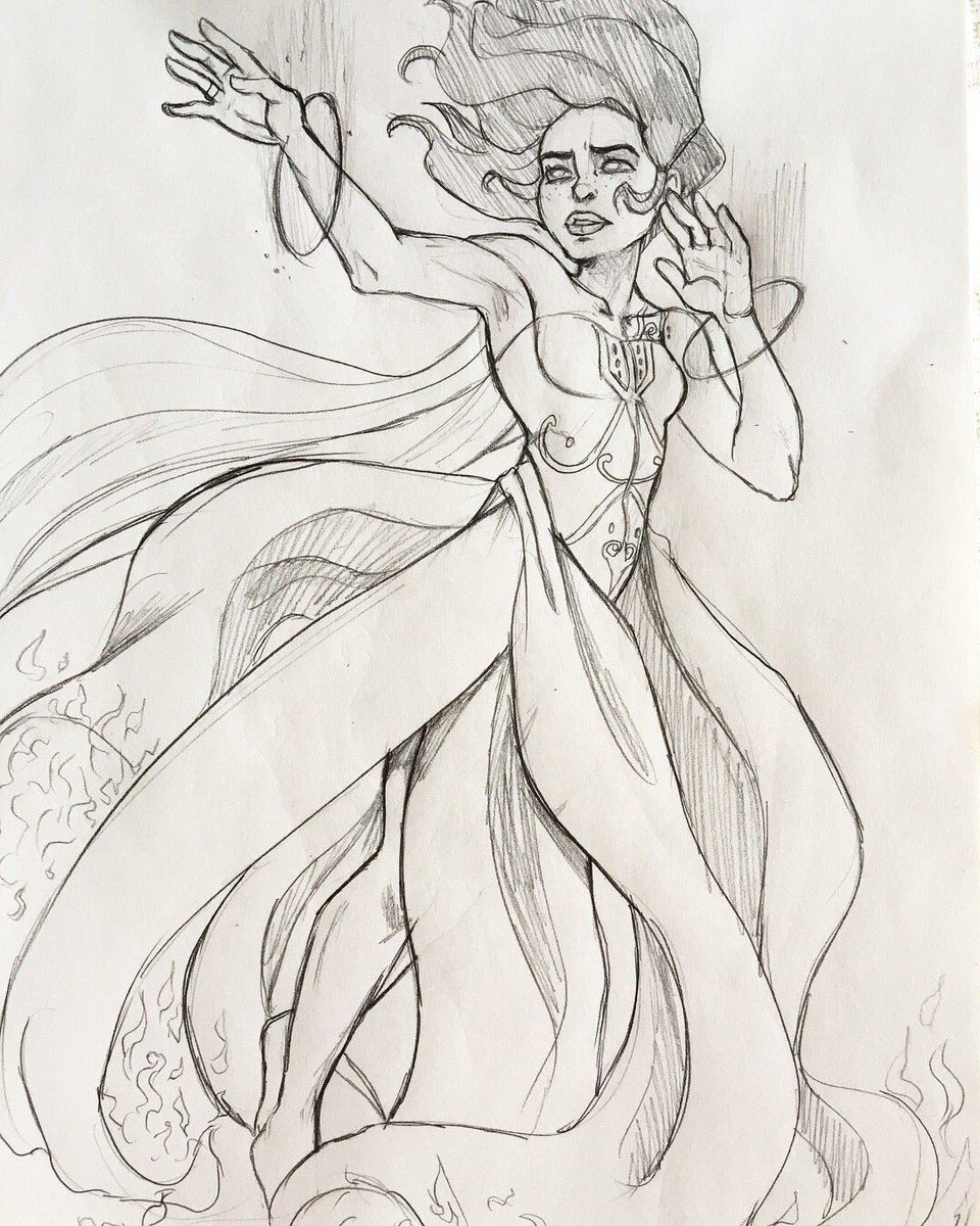 Another concept of Marinette in her supreme transformation. This is just an idea for the AU I&#39;m working on :)  #sketch #drawing #Marinette #illustration<br>http://pic.twitter.com/jpCJ54zWvi