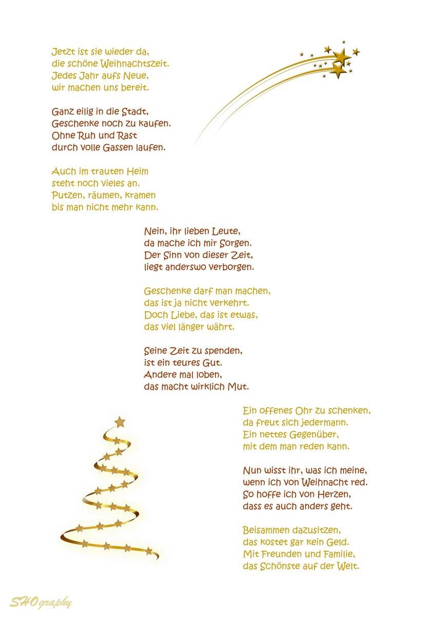 Besinnliche Gedichte Zu Weihnachten.Pfanntasstisch On Twitter Weihnachten Gedicht