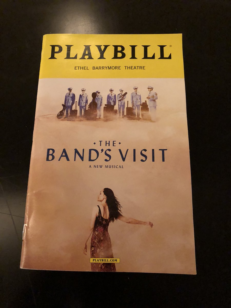Thrilling to see the best new #musical on #Broadway today w/@chriscassetta. Bravo to the entire cast and crew of @TheBandsVisit! A must-experience show!<br>http://pic.twitter.com/YVp2L4APFj