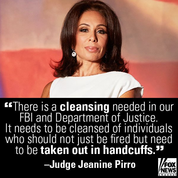 Do you agree with @JudgeJeanine? https://t.co/gllDDJFkna