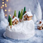 """See amazing party ideas at https://t.co/2n0L40LUCS! - 196 Likes, 3 Comments - Good Housekeeping UK (@goodhousekeepinguk) on Instagram: """"We've turned our Christmas cake into an alpine village and the trick to making the little mountain…"""""""