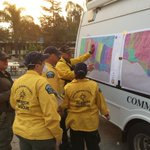 Deputies from Santa Barbara County, Ventura County and Search and Rescue crews from both agencies worked alongside each other this morning to go door to door conducting evacuations and provide security. #sbsheriff #ThomasFire santa barbara #vcsheriff