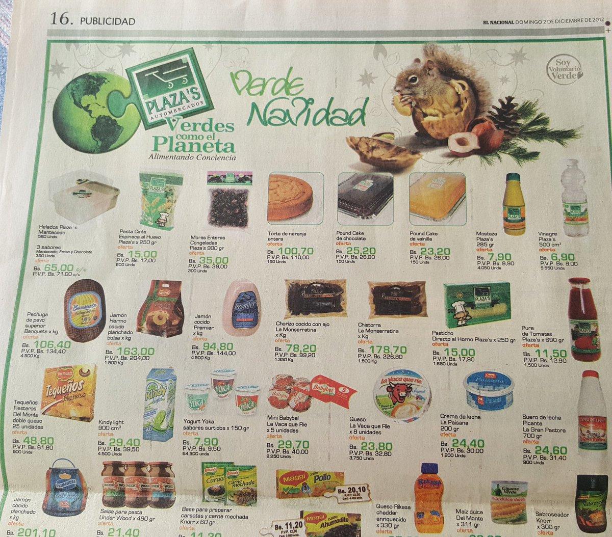 Ofertas navideñas en la Venezuela de 2012. Productos que hoy pueden costar 5.000 o 7.000 veces más o que sencillamente ya no existen en los anaqueles.