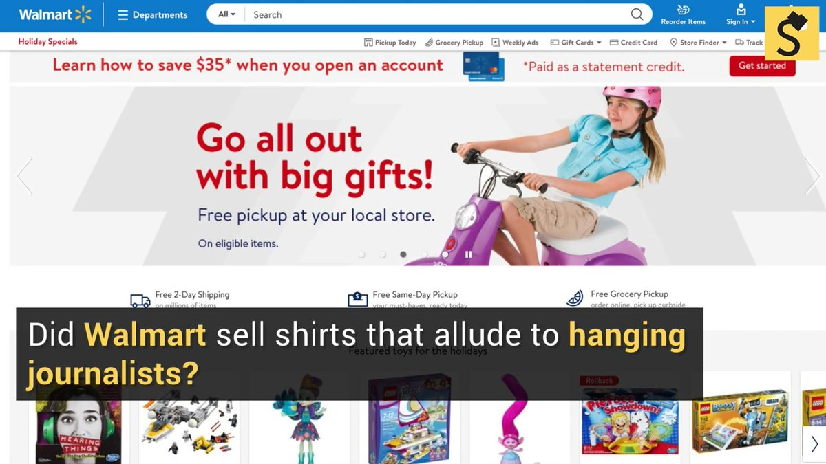 098beef68 Fact Check  Did Walmart Sell Shirts That Allude to Hanging Journalists   Full Report  https   trib.al Y3MDvqP pic.twitter.com UF3AcoTQLW