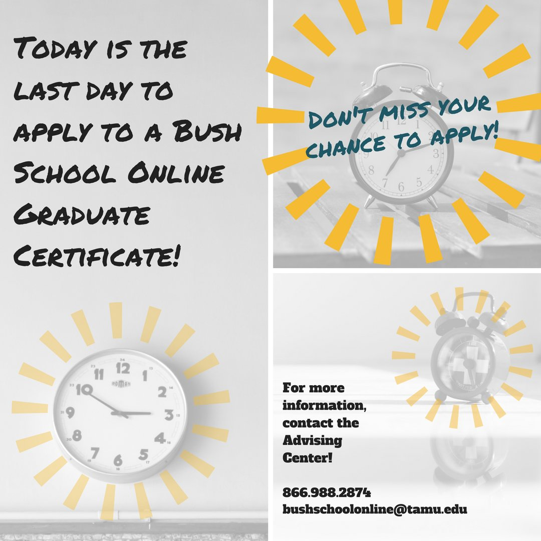 Bush School Online On Twitter Applications Are Due Today Dec 10