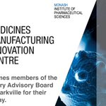 The Medicines Manufacturing Innovation Centre (@MMIC_Melb) is a partnership between @MIPS_Australia & @VicGovAu bringing innovative solutions to manufacturing in Victoria.  Today we welcome the MMIC Industry Advisory Board to #MonashParkville for their Board Meeting.