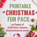 Christmas Printable Activity Family Fun Pack https://t.co/QWUB4THZQd