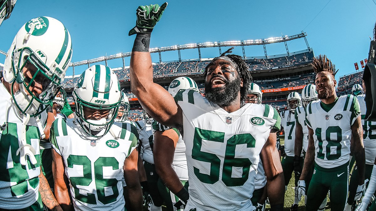 We win the toss, we defer.  Time to play ball. #NYJvsDEN