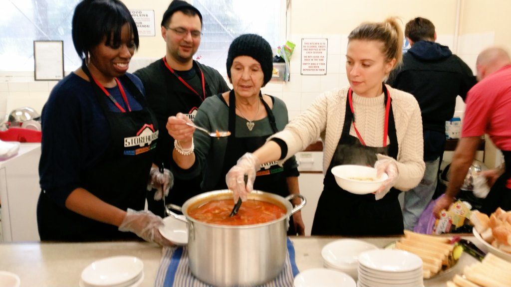 Hussain, Our Valued #volunteer Second On The Left, Cooked His Delicious  Iranian Chicken Soup Today In Storehouse Sunday Soup Kitchen In #Hackney.