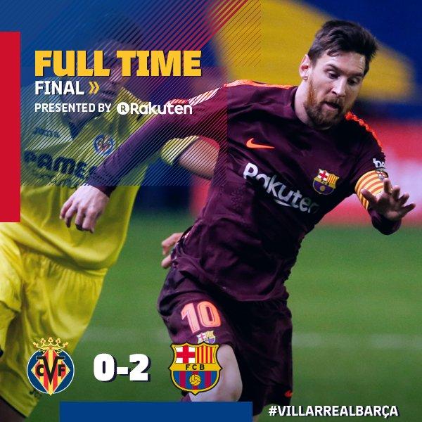 Chấm điểm trận Villarreal 0-2 Barcelona