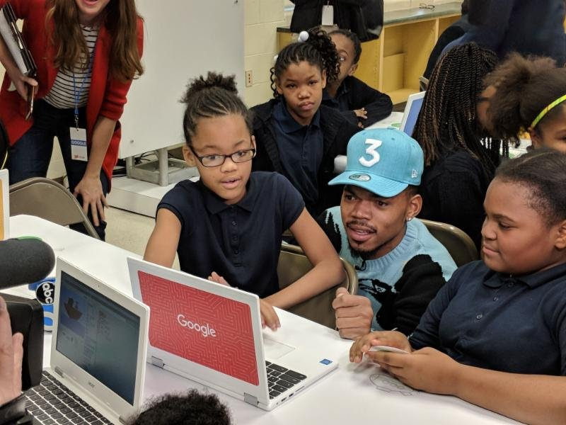 Chance the Rapper, Google team up to give $1.5 million toward STEM in Chicago schools https://t.co/s6oUkEkHph