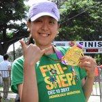 浅田真央さん、ゴール😆🎊42.195km、お疲れさまでした!#ご褒美はマラサダのようです#爽やかな笑…