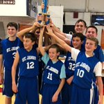 Congratulations to 8 A bball team on winning the Sts. Peter & Paul tournament! #TeamworkMatters