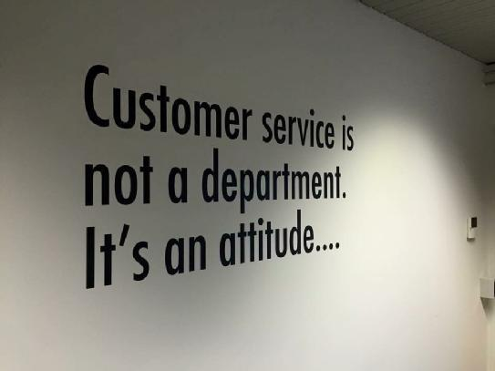 #CustomerService is an #ATTITUDE not a department!  #service #customersupport #loyalty #brand #customerexperience https://t.co/yruZBbZIVM