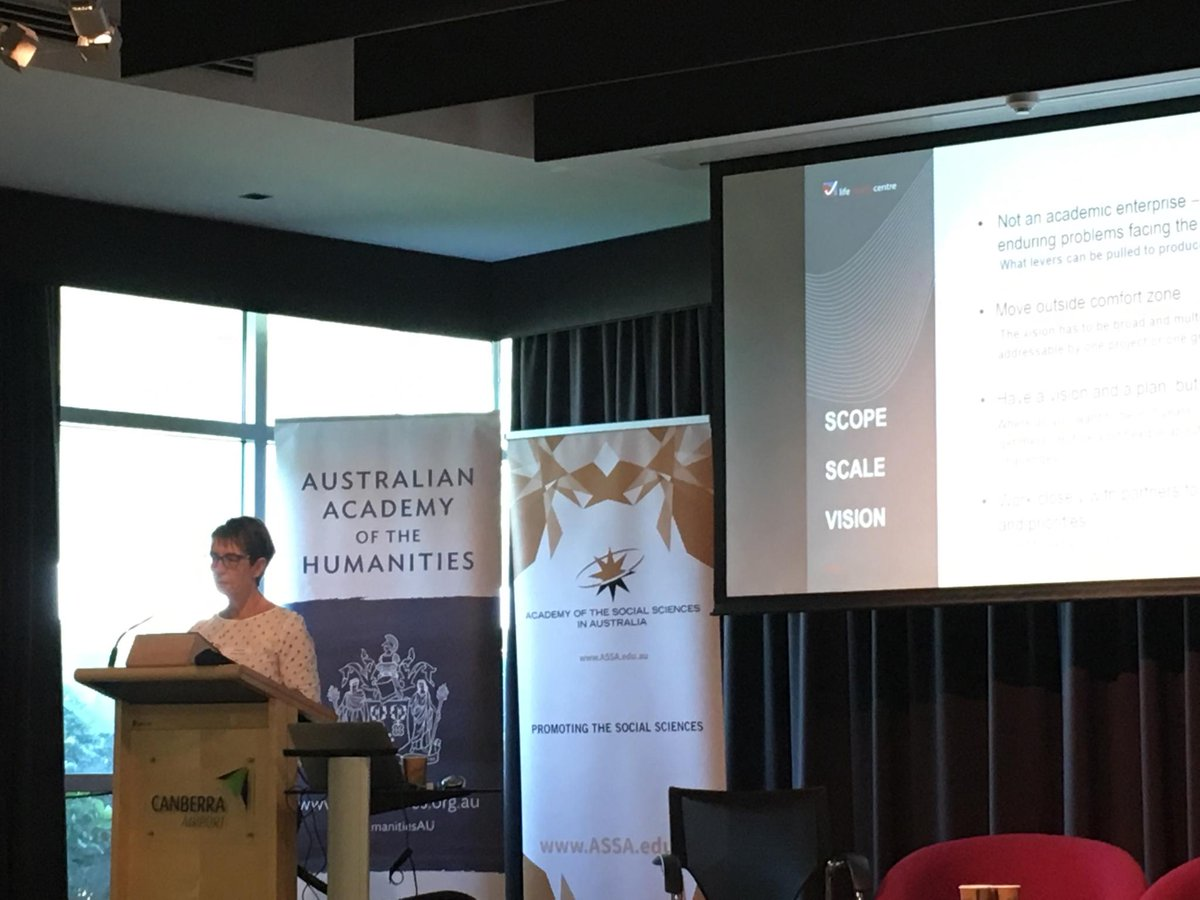 #HASS Centres of Excellence event: @lifecourseAust Janeen Baxter on the role non-academic enterprises play in addressing enduring problems.<br>http://pic.twitter.com/ibwAMUu86P