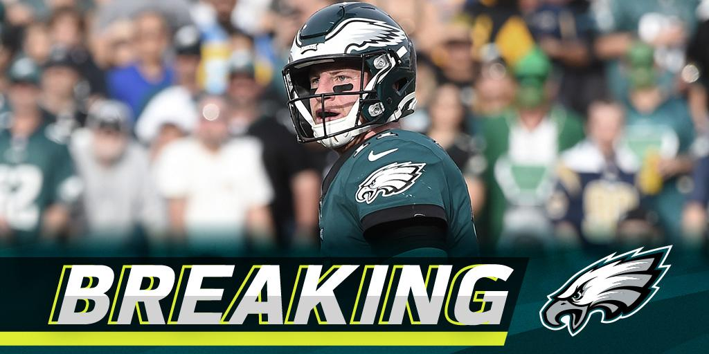 Eagles believe Carson Wentz has a torn ACL