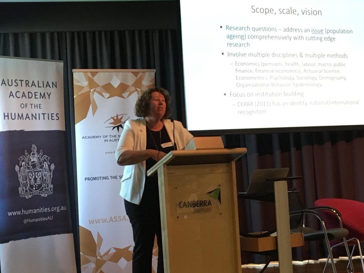 #HASS Centres of Excellence event: Hazel Bateman from Centre for Population Ageing #Research on importance of strategy and good governance.<br>http://pic.twitter.com/Qn2W8kxgJU