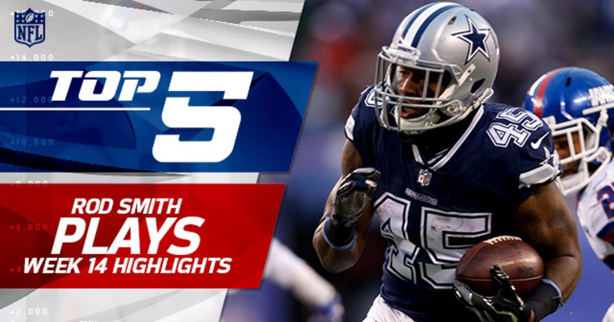 Watch the top five plays from Rod Smith's impressive Week 14 performance. #DALvsNYG   🎥 https://t.co/hI5lgIgHB3