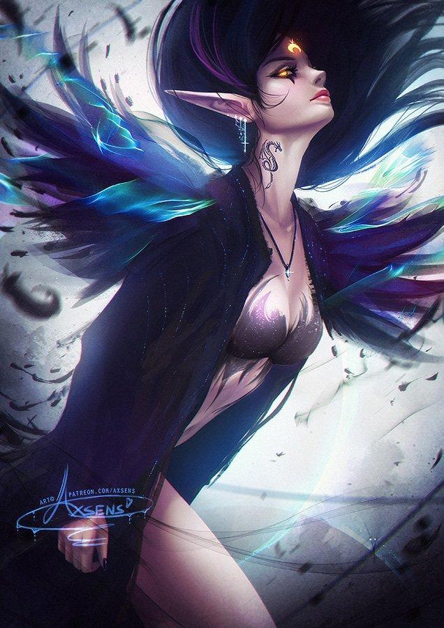 RT @axsensart: Elf Raven :3🖤 extra stuff > https://t.co/KdL1FnAxRQ        #art #fantasy #axsens #elf #raven https://t.co/u60nBJvwle