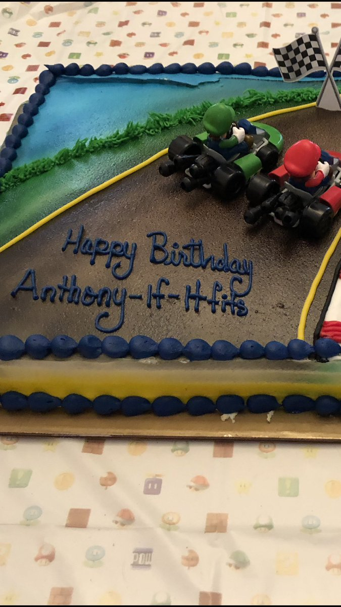 My Mom Got Ants Birthday Cake From BJsWholesale When They Asked Her What To Write On The She Said Happy Anthony