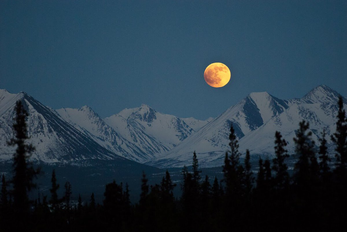 Our most popular pic last week: This incredible #FullMoon 🌕 photo @DenaliNPS in #Alaska