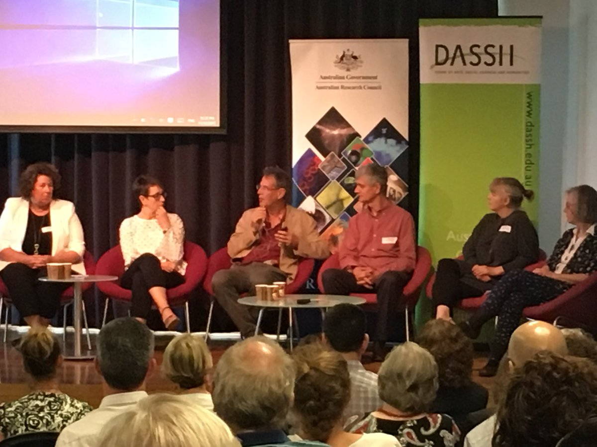 A terrific panel of #CoE directors together for our #HASS Centre of Excellence workshop #HASSCoE2017 @HumanitiesAU @auDASSH @arc_gov_au<br>http://pic.twitter.com/CsWVvNNXPi
