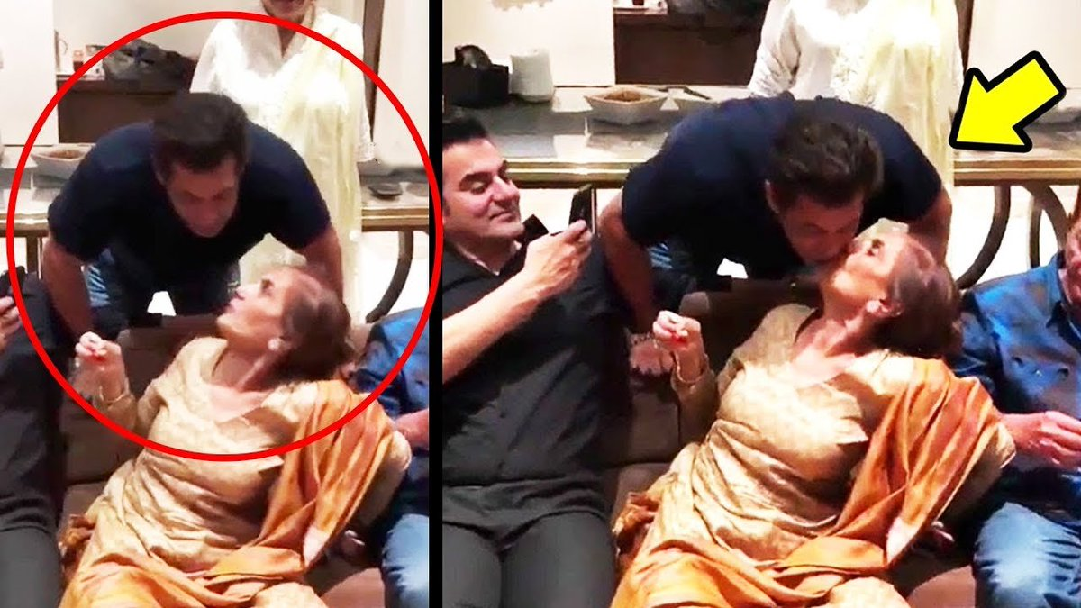 #Happy Is The Son Whose #Faith In His Mother Remains Unchallegened #SalmanKhan&#39;s Cute Moment With His #Mother  #Motherhood #MotherSon #FamilyGuy #Birthday #Celebration #Family Watch Adorable Video   https:// youtu.be/wPa1O34N7RI  &nbsp;   <br>http://pic.twitter.com/tJ57Z8fzHQ