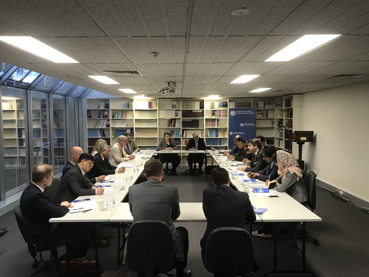 A big thank you also to His Excellency @HekmatKarzai, who provided incisive commentary while leading a fascinating roundtable discussion between diplomats, think tank representatives and academics at the AIIA national office last Wednesday.