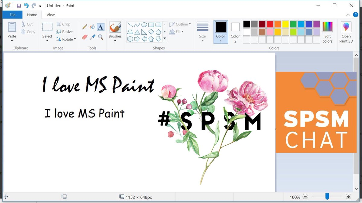Word Swag on MS Paint  #SPSM <br>http://pic.twitter.com/kECcrrijke