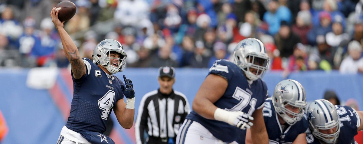 The Cowboys offense had several big pass plays during #DALvsNYG to help seal the win.  📝 https://t.co/dRysC94vY3