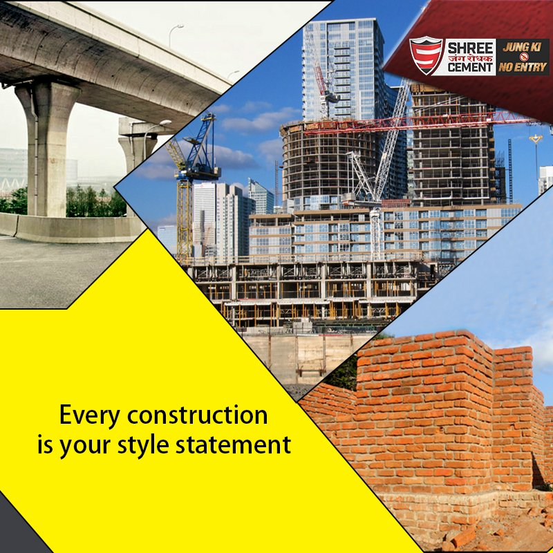 Shree Cement Ltd On Twitter Do Not Just Construct Building