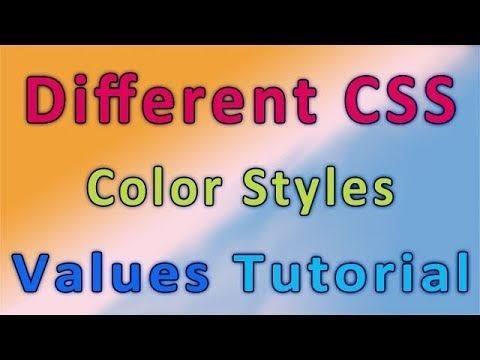Different CSS color Styles values: #webdesign #webdevelopment #html5 #html #css  #website #webdev #html  https:// youtu.be/P5kO2rflSTk  &nbsp;  <br>http://pic.twitter.com/yOwIeT4svb