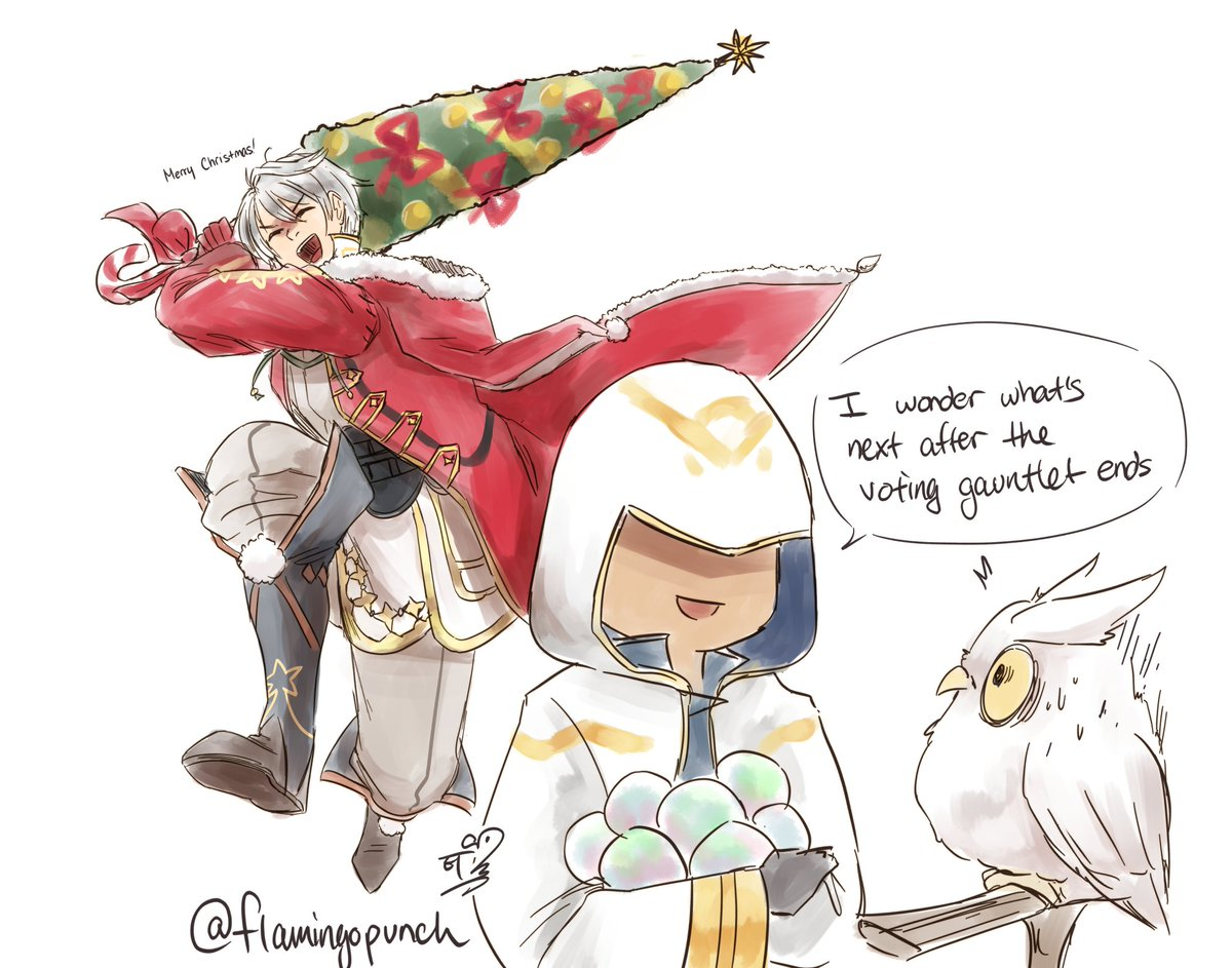 Feh Christmas Banner.Flamingo On Twitter Waiting For Feh To Suddenly Slap Us In