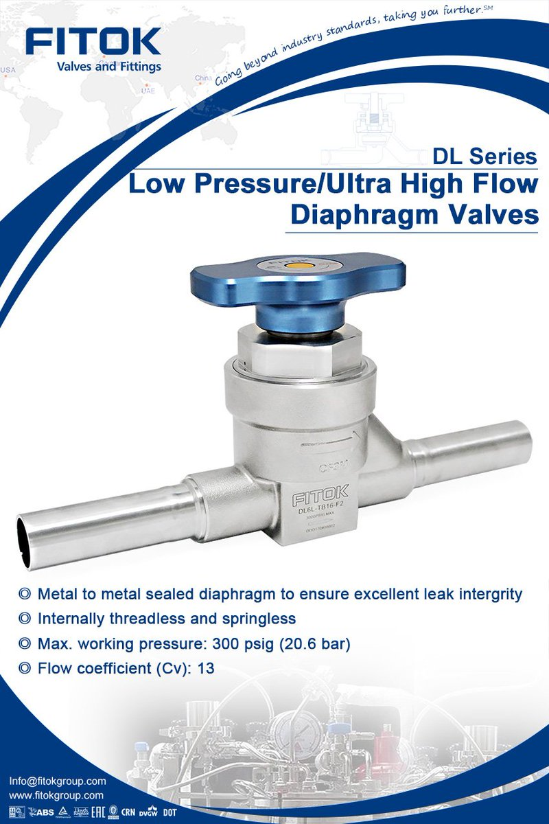 Fitok group on twitter fitok dl series low pressureultra high fitok dl series low pressureultra high flow diaphragm valves a variety of sizes materials configurations and series are available taking you further ccuart Image collections