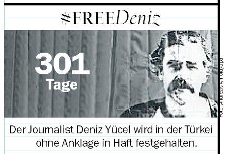 Deniz #Yücel: Seit 301 Tagen ohne Anklage in türkischer Haft - #FreeDeniz #FreeThemAll