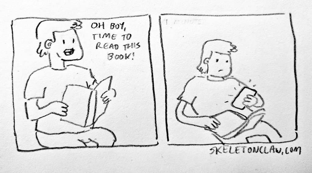 RT @skeleton_claw: Time for a #relatable #comic  Good night folks https://t.co/3m3W8q56eo